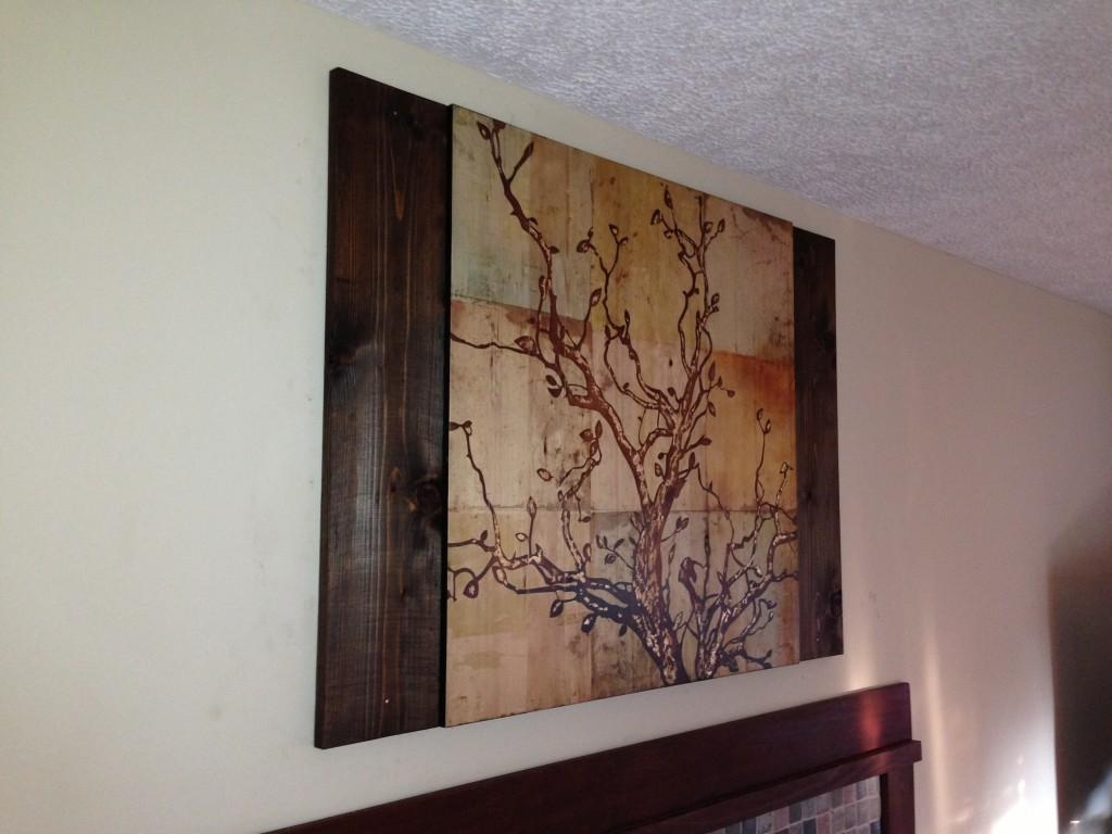 Using Stained Wood To Complement Wall Art - Coreyms for Stained Wood Wall Art