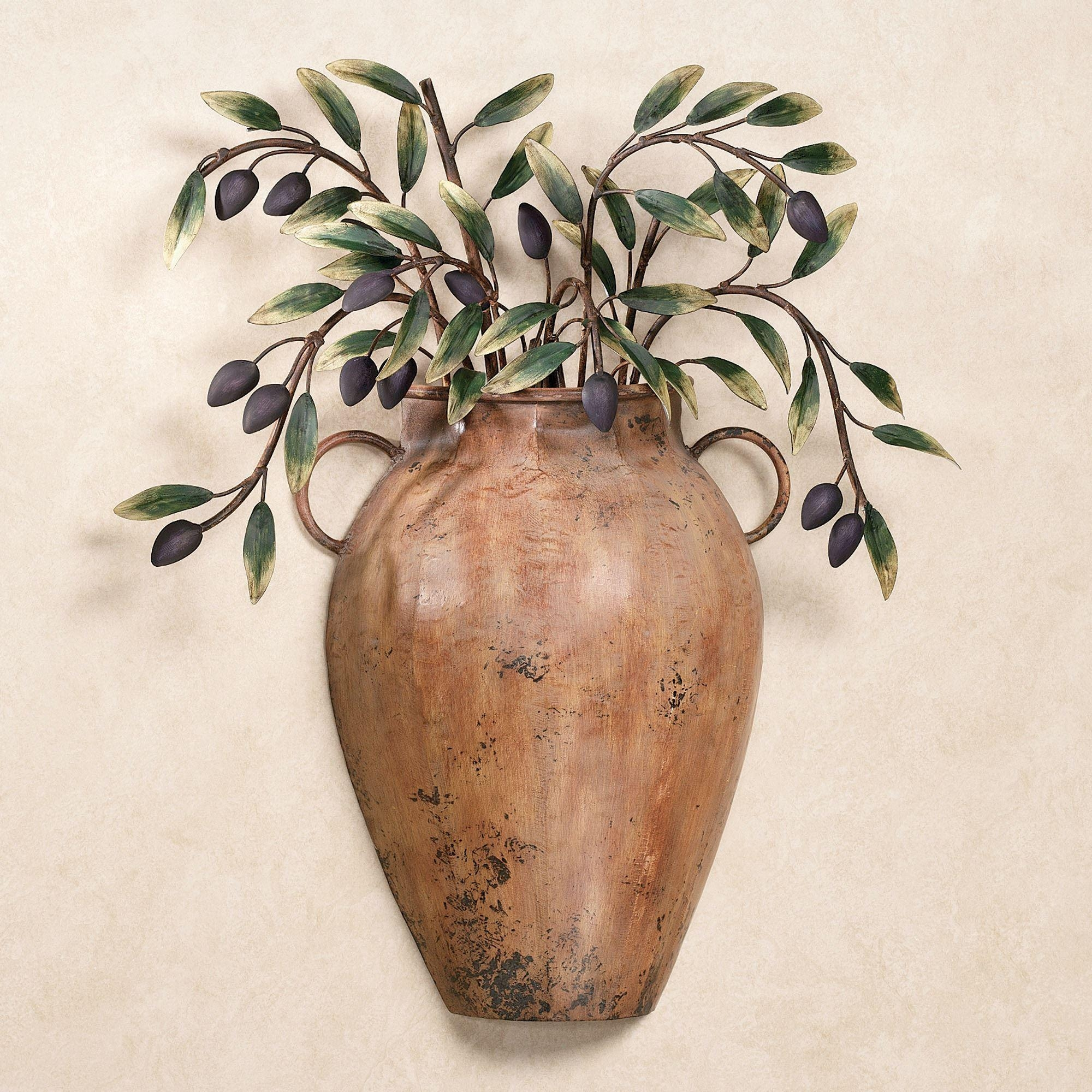 Valetta Vaso Con Olives Metal Wall Sculpture In Italian Plates Wall Art Sets (View 17 of 20)