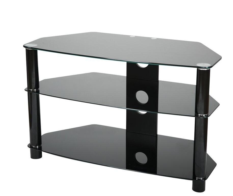 Valufurniture B800B Tv Stands Inside Recent Smoked Glass Tv Stands (View 3 of 20)