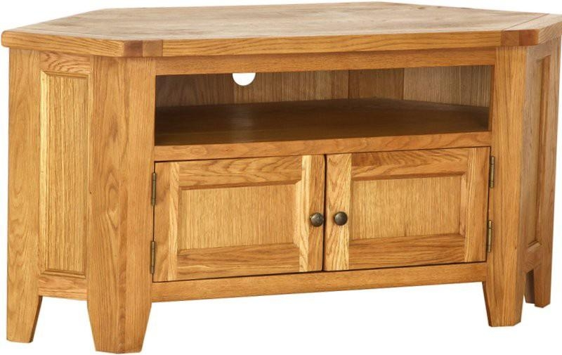 Vancouver Petite Oak Large Corner Tv Unit Designer Furniture Ltd For Latest Large Corner Tv Cabinets (View 16 of 20)