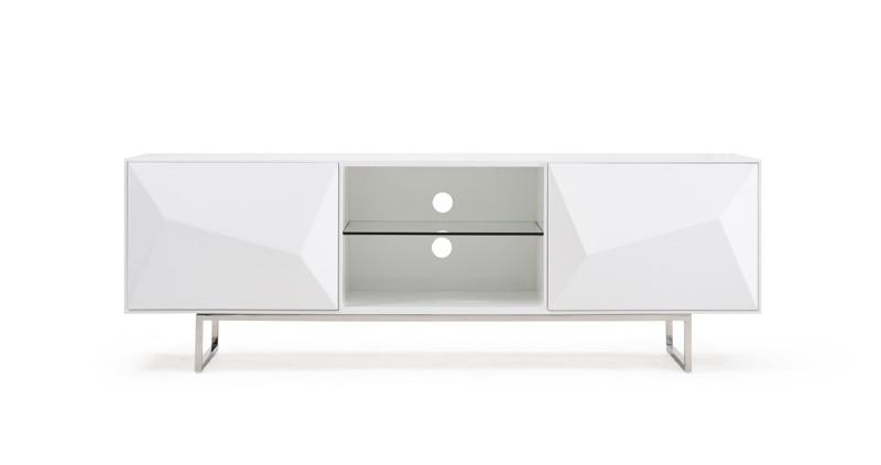 Vanguard Modern White Tv Stand intended for Most Recently Released Modern White Tv Stands