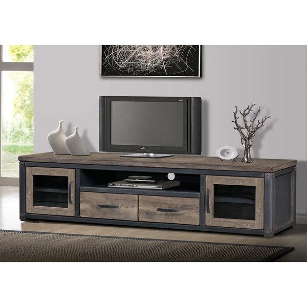 Varnished Wood Entertainment Center With Varnished Wood Cabinet Tv With Current Square Tv Stands (View 16 of 20)