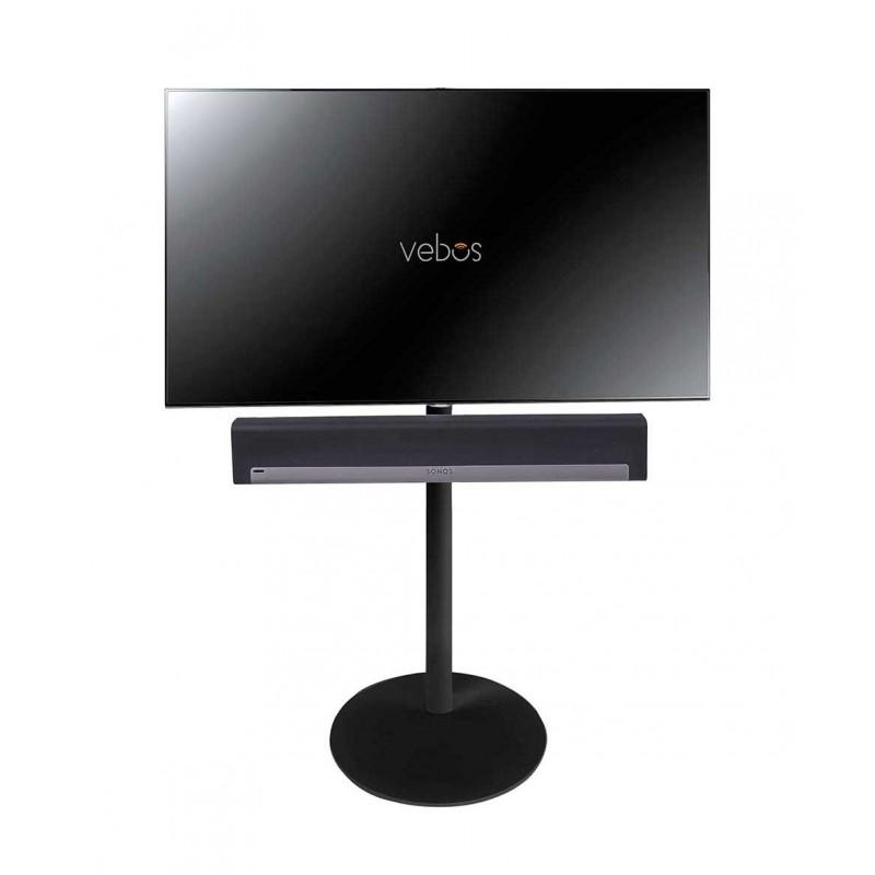 Vebos Tv Floor Stand Sonos Playbar Black Intended For Recent Sonos Tv Stands (View 16 of 20)