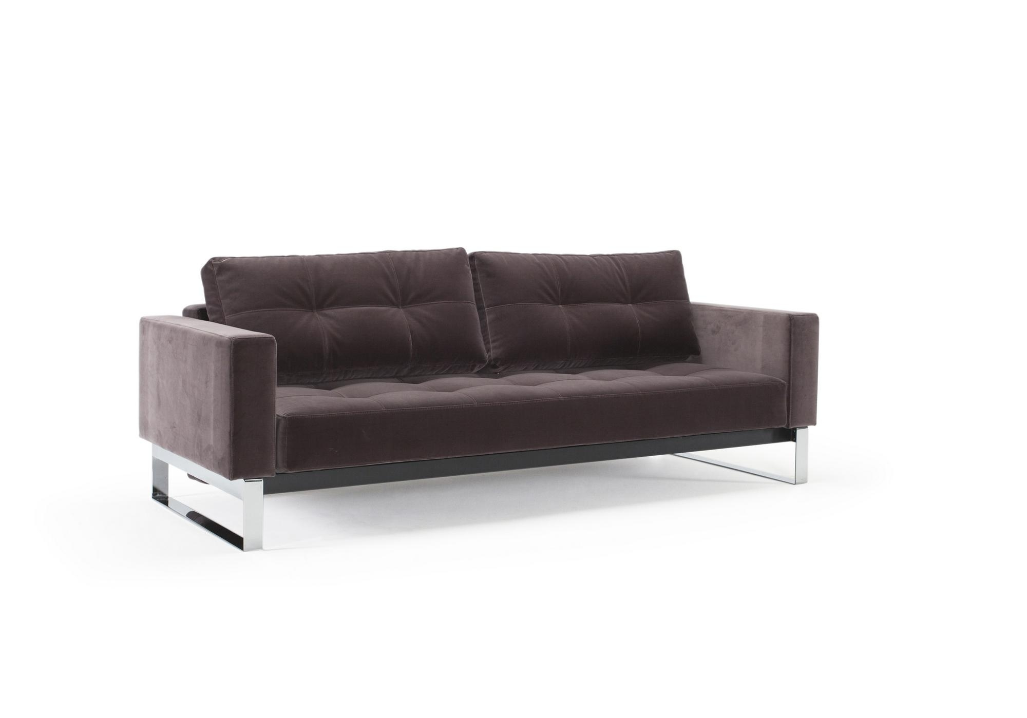 Velvet Sofa, Chrome – Dark Grey Velvet With Black Velvet Sofas (Image 19 of 20)
