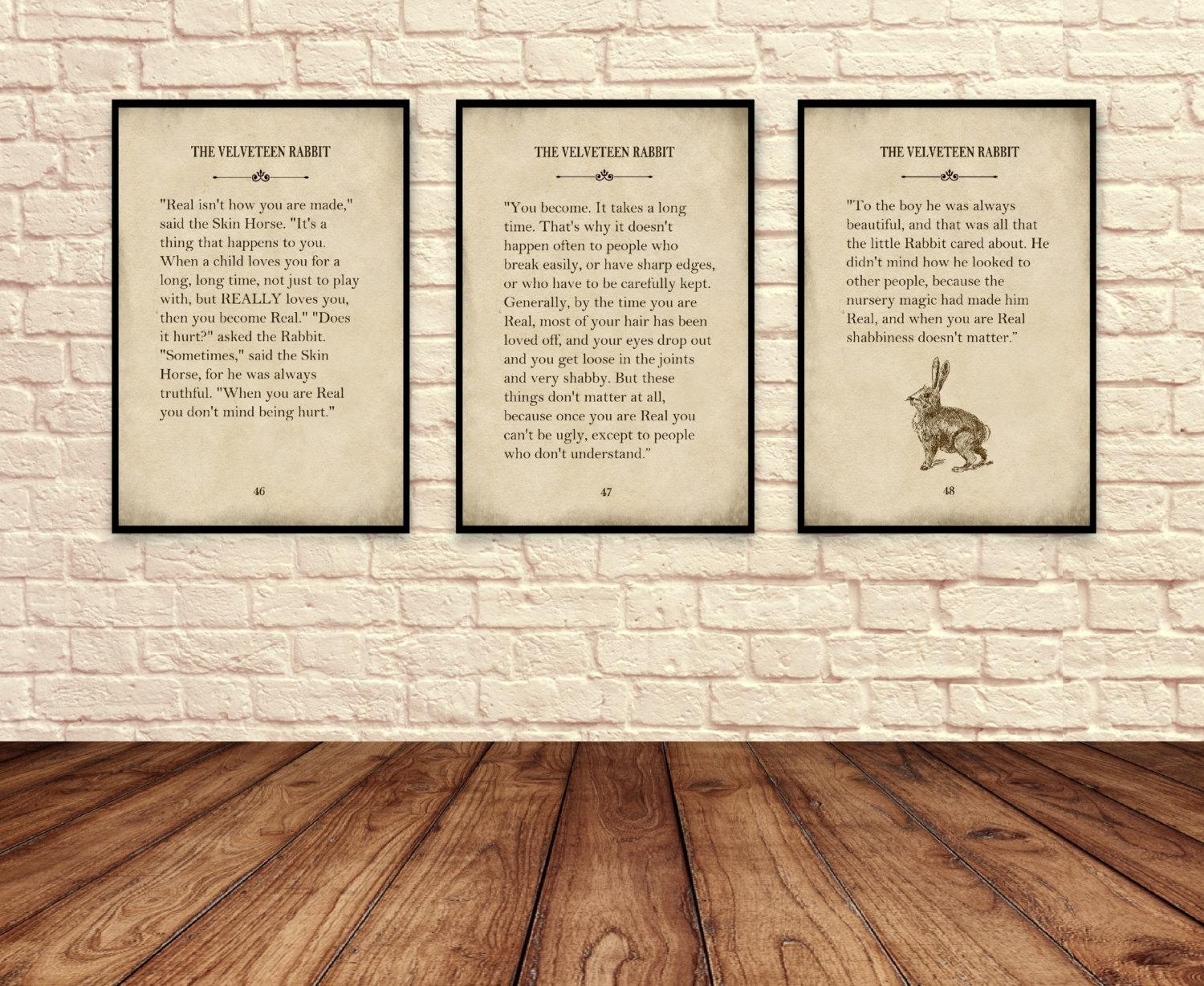 Velveteen Rabbit Wall Art Velveteen Rabbit Art Pints Story Pertaining To Velveteen Rabbit Wall Art (Image 17 of 20)