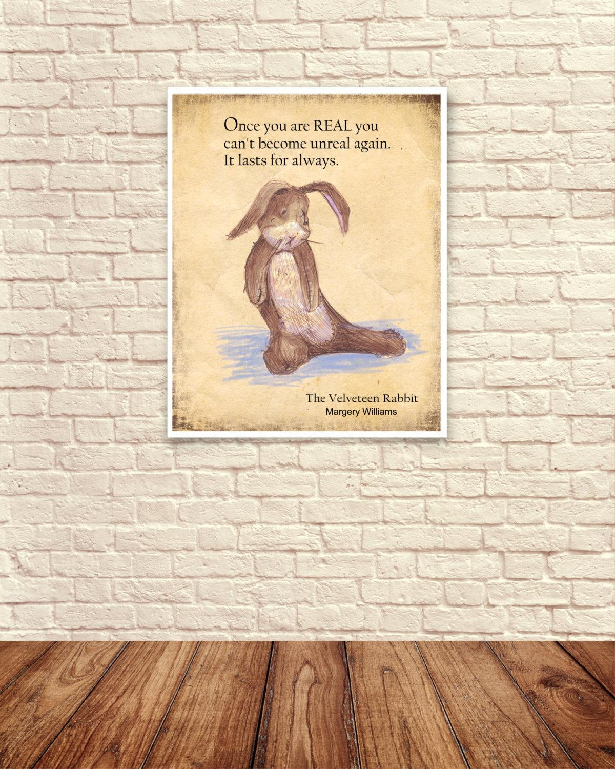 Velveteen Rabbit Wall Art Velveteen Rabbit Art Print Nursery For Velveteen Rabbit Wall Art (View 10 of 20)