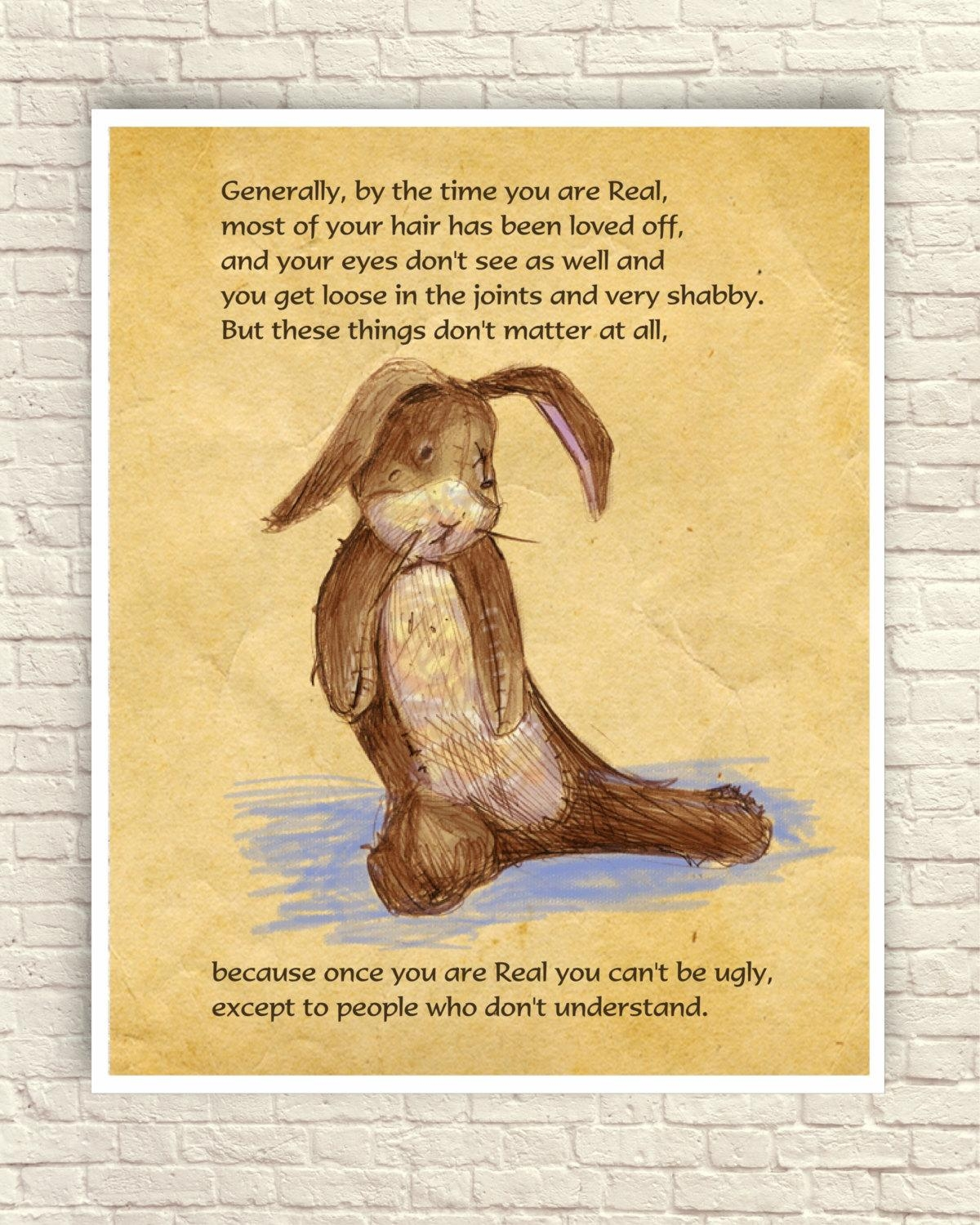 Velveteen Rabbit Wall Art Velveteen Rabbit Art Print Nursery Regarding Velveteen Rabbit Wall Art (Image 19 of 20)