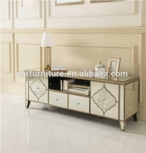 Mirrored Tv Console ~ Inspirations mirrored tv stands cabinet and stand