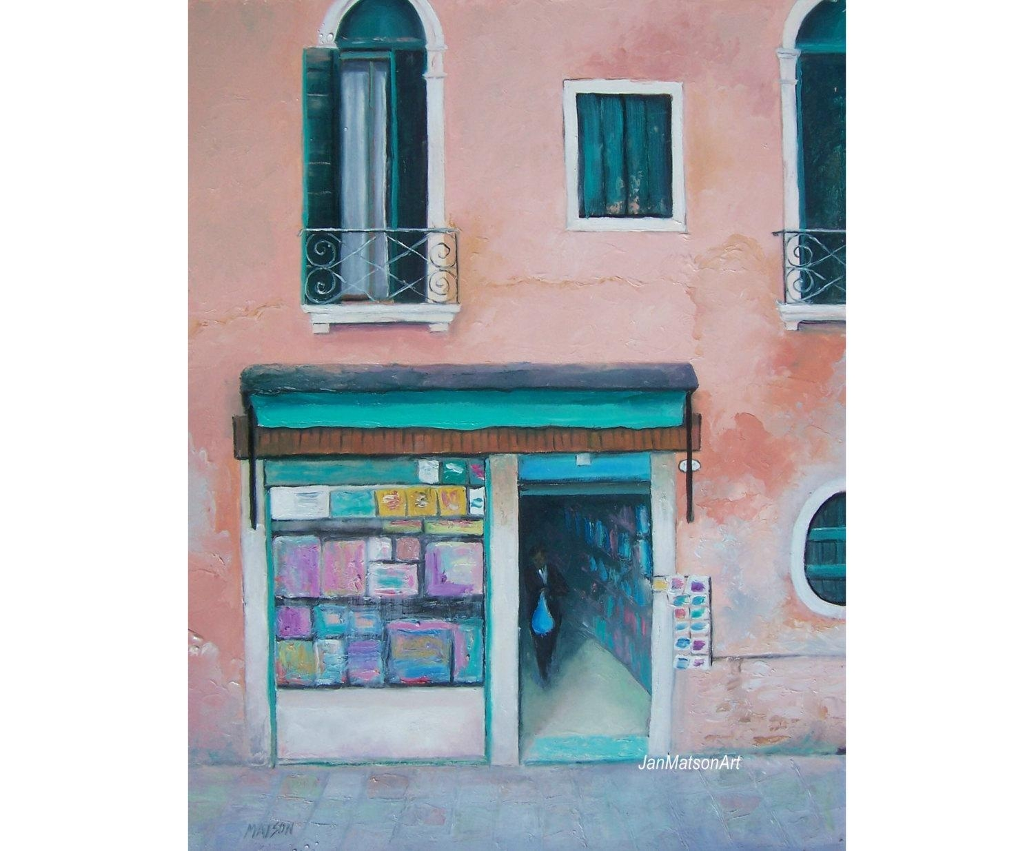 Venice Art Italy Painting Italy Street Scene Italian In Italian Scene Wall Art (View 9 of 20)