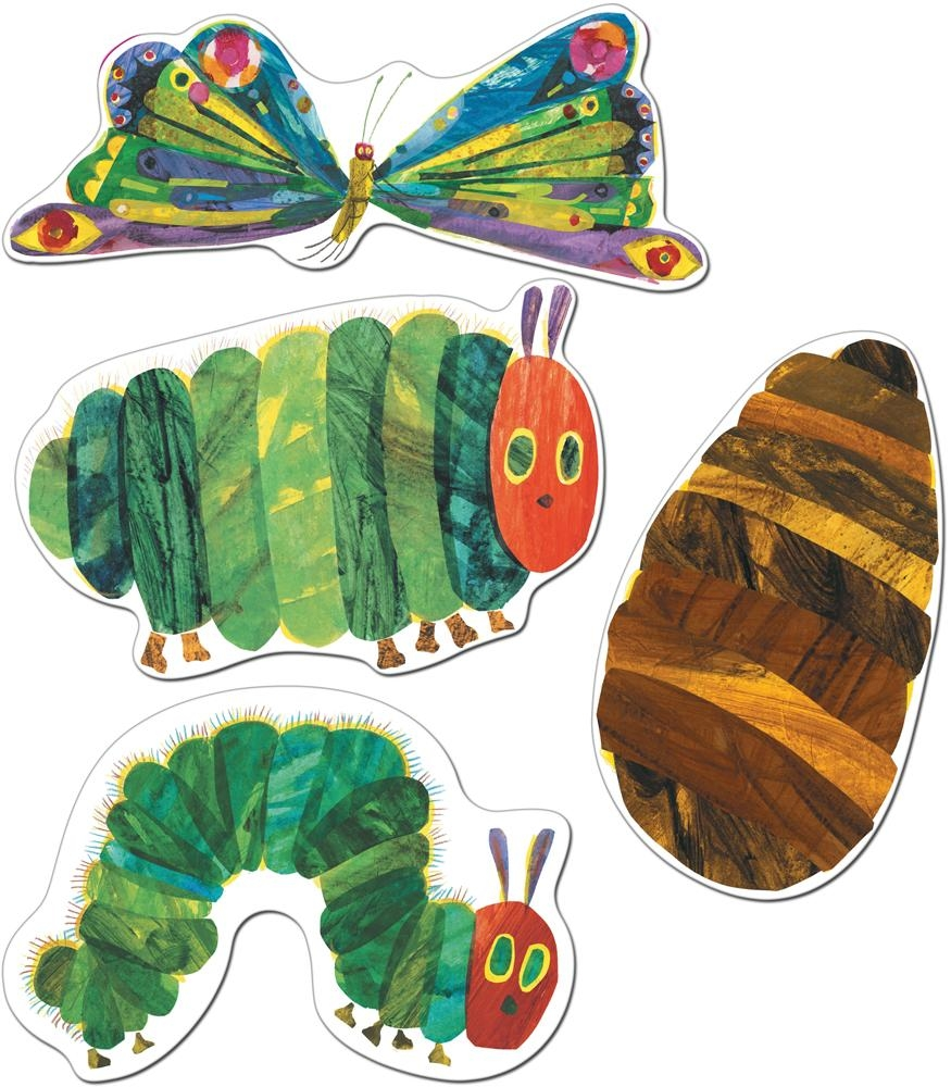 Very Hungry Caterpillar Cut Out Decorations | The Eric Carle Intended For Eric Carle Wall Art (Image 18 of 20)