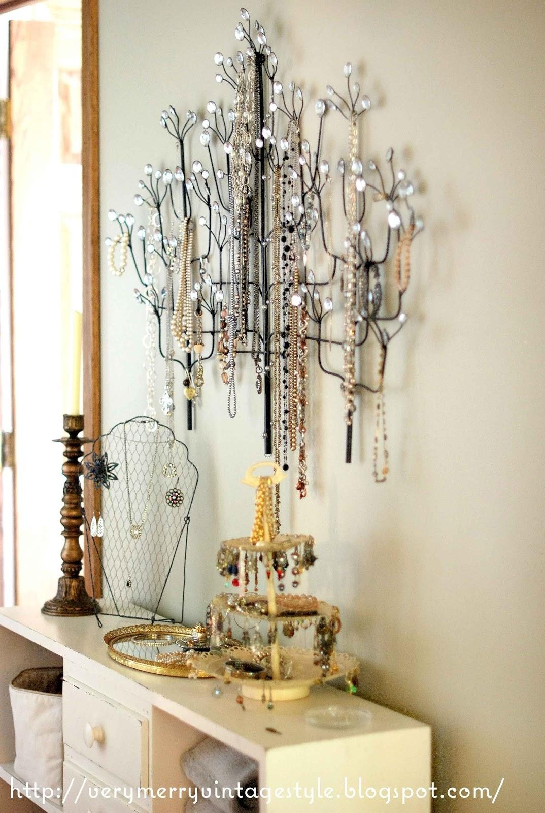 Very Merry Vintage Syle: Homegoods Wall Art Turned Jewelry Tree With Regard  To Homegoods Wall