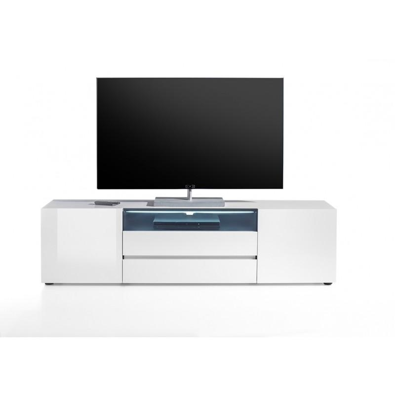 Vicenza 185 Lowboard Tv Stand – Two Doors – Two Drawers In Most Current White High Gloss Corner Tv Unit (Photo 10 of 20)
