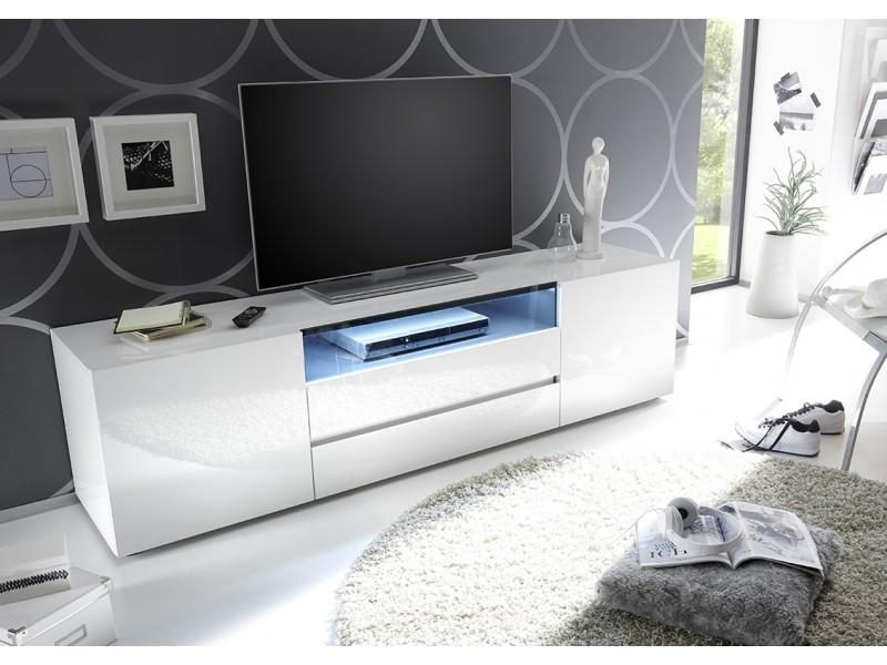 Vicenza 185 Lowboard Tv Stand – Two Doors – Two Drawers Pertaining To Most Popular High Gloss White Tv Stands (View 17 of 20)