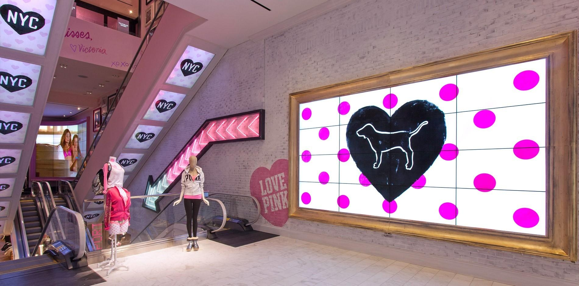 Victoria's Secret New York Flagship Renovation & Fit Out Project Within Victoria Secret Wall Art (View 4 of 20)