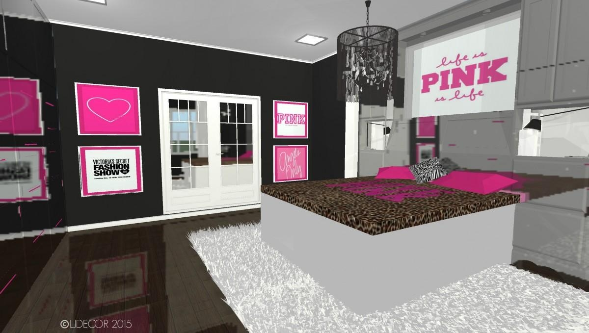 Victoria's Secret Pink Inspired Bedroom – Ljdecor For Victoria Secret Wall Art (Image 20 of 20)