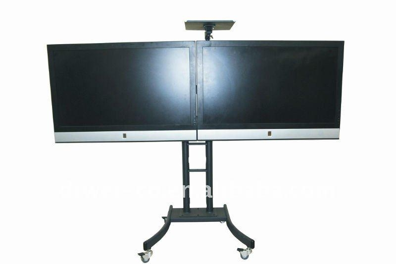 Video Conferencing Stand/dual Tv Stand,led Tv Stand,tv Stnads In Most Up To Date Dual Tv Stands (Image 20 of 20)