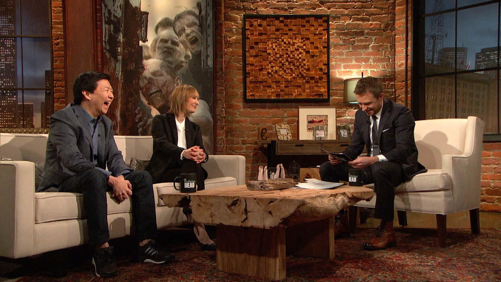 Video Extra – The Walking Dead – Talking Dead: Bonus Scene Throughout Talking Dead Wood Wall Art (View 2 of 20)