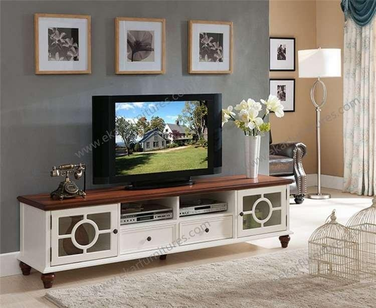 Vintage Antique Country Style Wooden White Tv Bench, View Tv Bench in Recent Country Style Tv Cabinets
