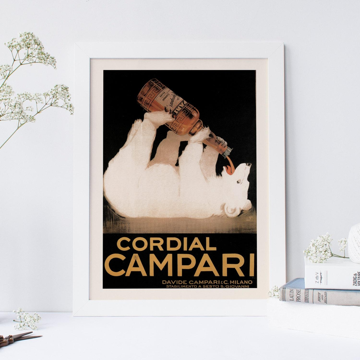 Vintage Campari Ad Polar Bear Art Italian Cafe Style Wall – Blog With Regard To Italian Cafe Wall Art (Image 16 of 20)