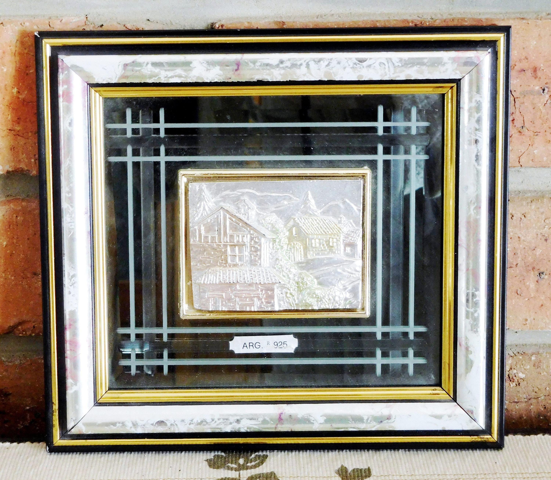 Vintage Creazioni Artistiche 3D Sterling Silver Framed Wall Art inside Italian Silver Wall Art