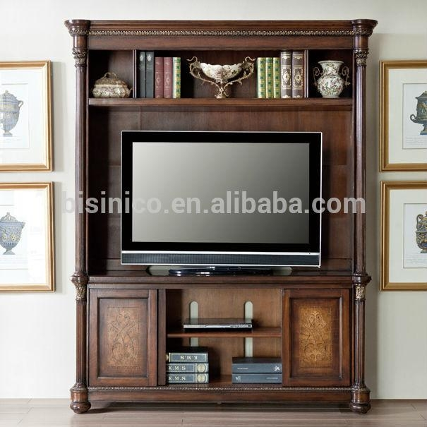 Vintage Design Wooden Tv Cabinet,america Style Replica Living Room with regard to Latest Antique Style Tv Stands