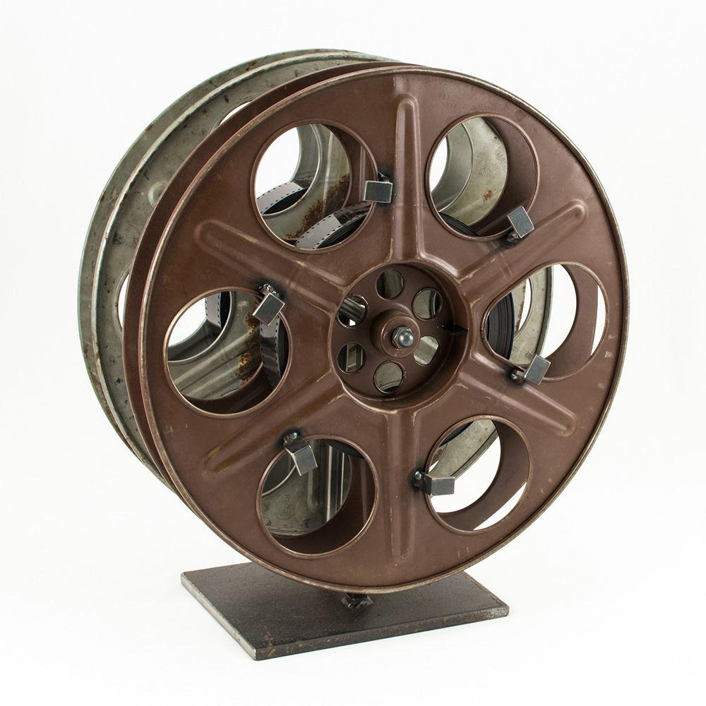 Vintage Film Reel Wine Rack – The Green Head Inside Movie Reel Wall Art (Image 16 of 20)