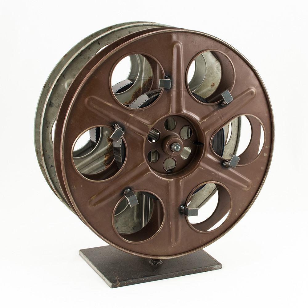 Vintage Film Reel Wine Rack – The Green Head Inside Movie Reel Wall Art (View 16 of 20)