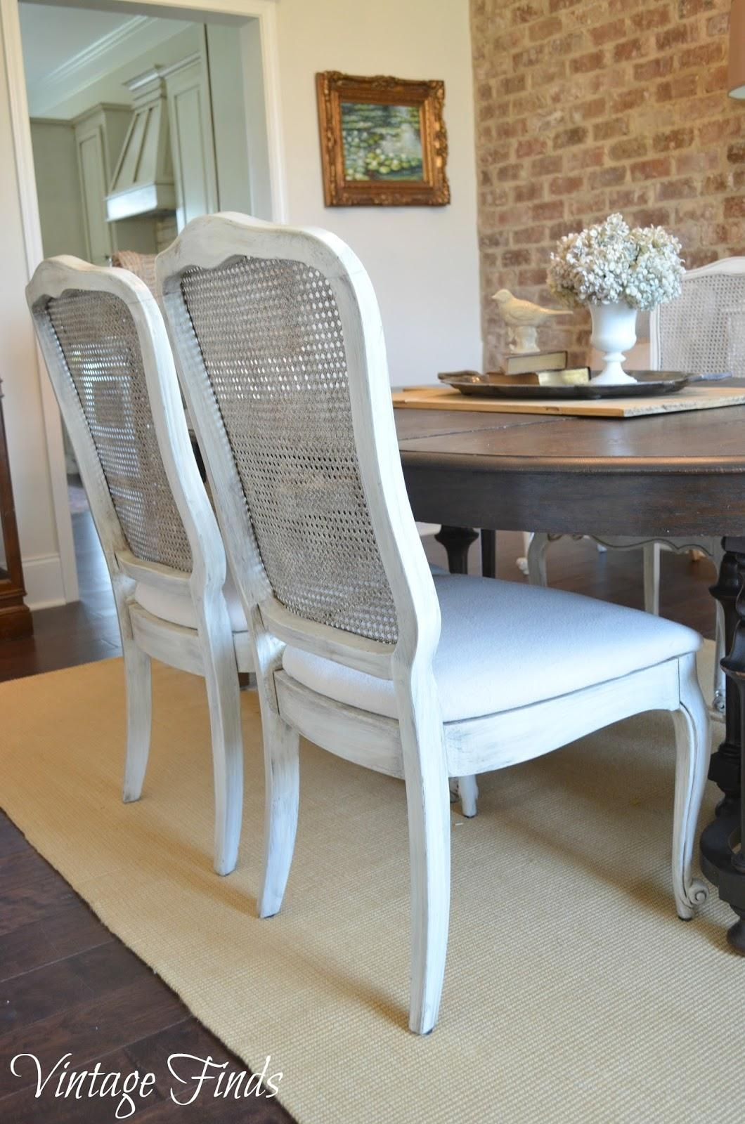 Vintage Finds: New House: Updated Dining Chairs With White Cane Sofas (View 17 of 25)
