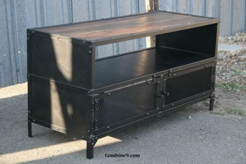 Vintage Industrial Tv Stand. Reclaimed Wood/steel (View 16 of 20)