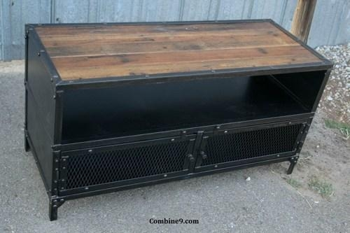 Vintage Industrial Tv Stand. Reclaimed Wood/steel (View 4 of 20)