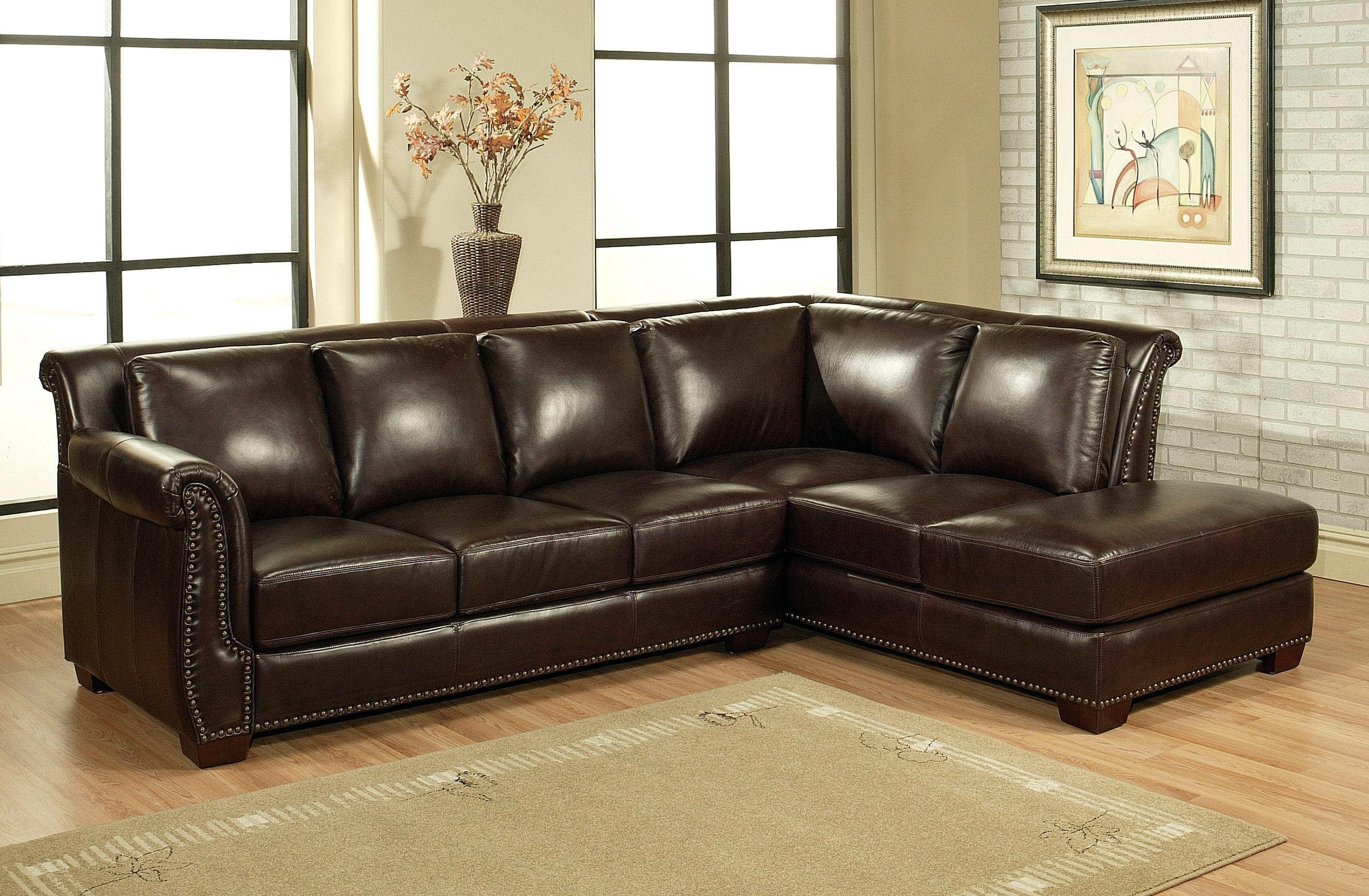 Vintage Leather Sectional With Chaise | : Decorate For Leather Within Vintage Leather Sectional Sofas (Image 20 of 20)