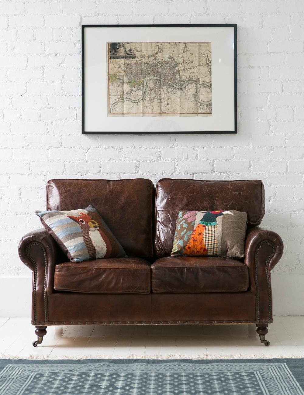 Vintage Leather Sofa – 2 Seater | Rose & Grey Pertaining To Vintage Leather Sofa Beds (View 8 of 20)