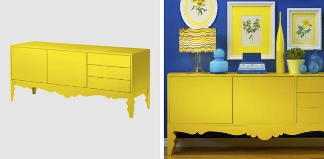 Vintage Minded Maven : New Tv Stand  Upcycled Furnishings With Most Recent Yellow Tv Stands (Image 19 of 20)