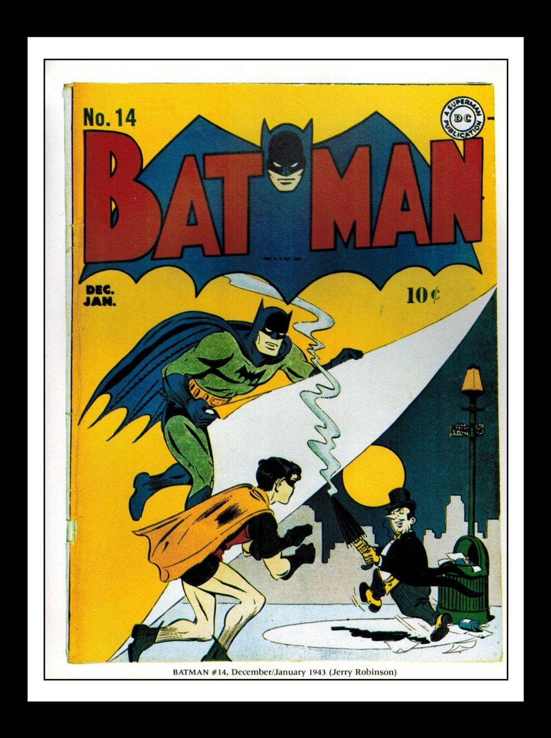 Vintage Print Ad Comic Book Cover : Batman 14 Penguin / In Penguin Books Wall Art (Image 16 of 20)