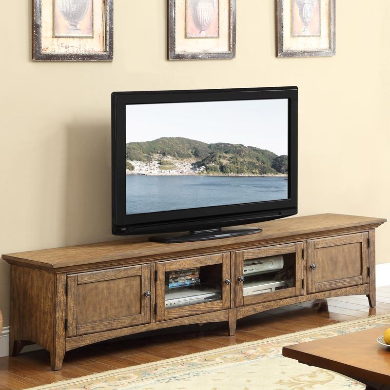 Vintage Style Low Profile Tv Stand Built In Natural Wooden Pertaining To 2018 Low Long Tv Stands (Image 18 of 20)