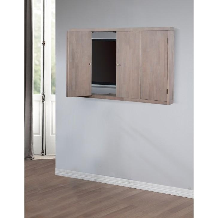 Vintage White Enclosed Tv Cabinets For Flat Screens With Doors And in Newest Enclosed Tv Cabinets For Flat Screens With Doors