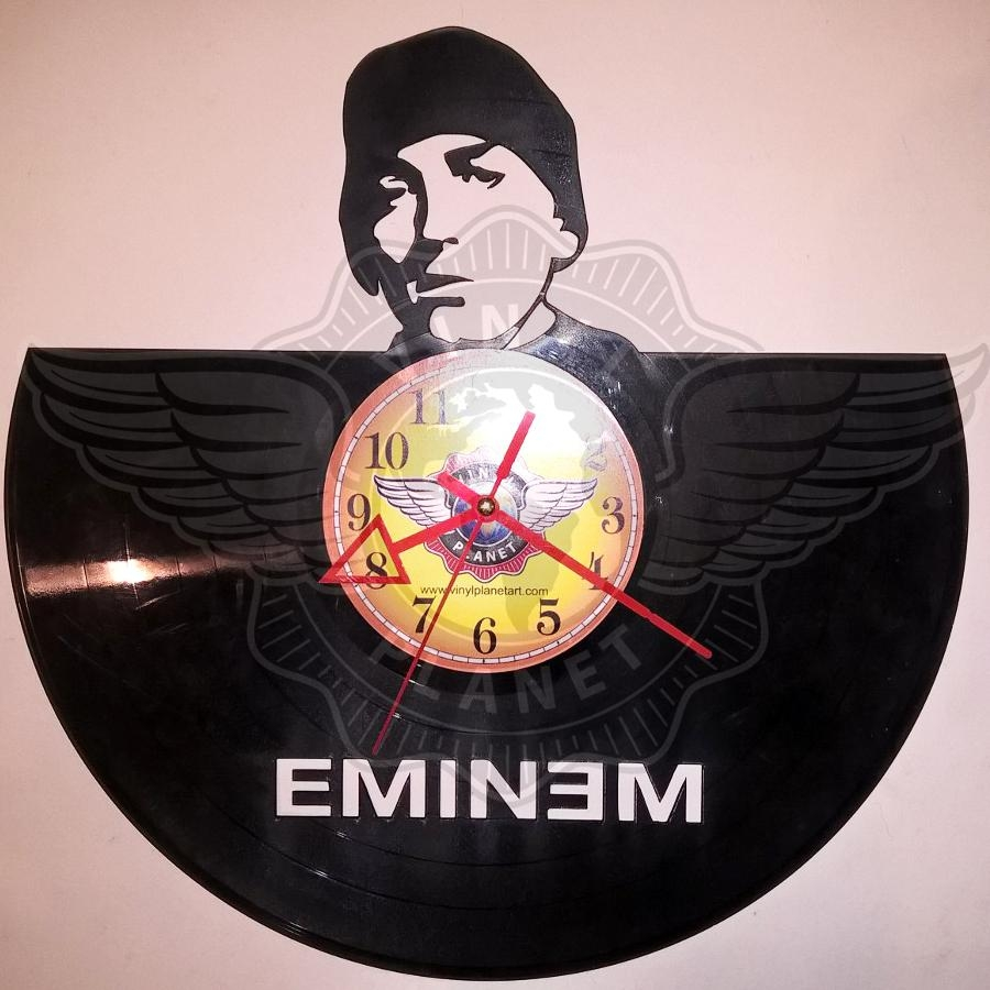 Vinyl Clocks Within Eminem Wall Art (View 19 of 20)
