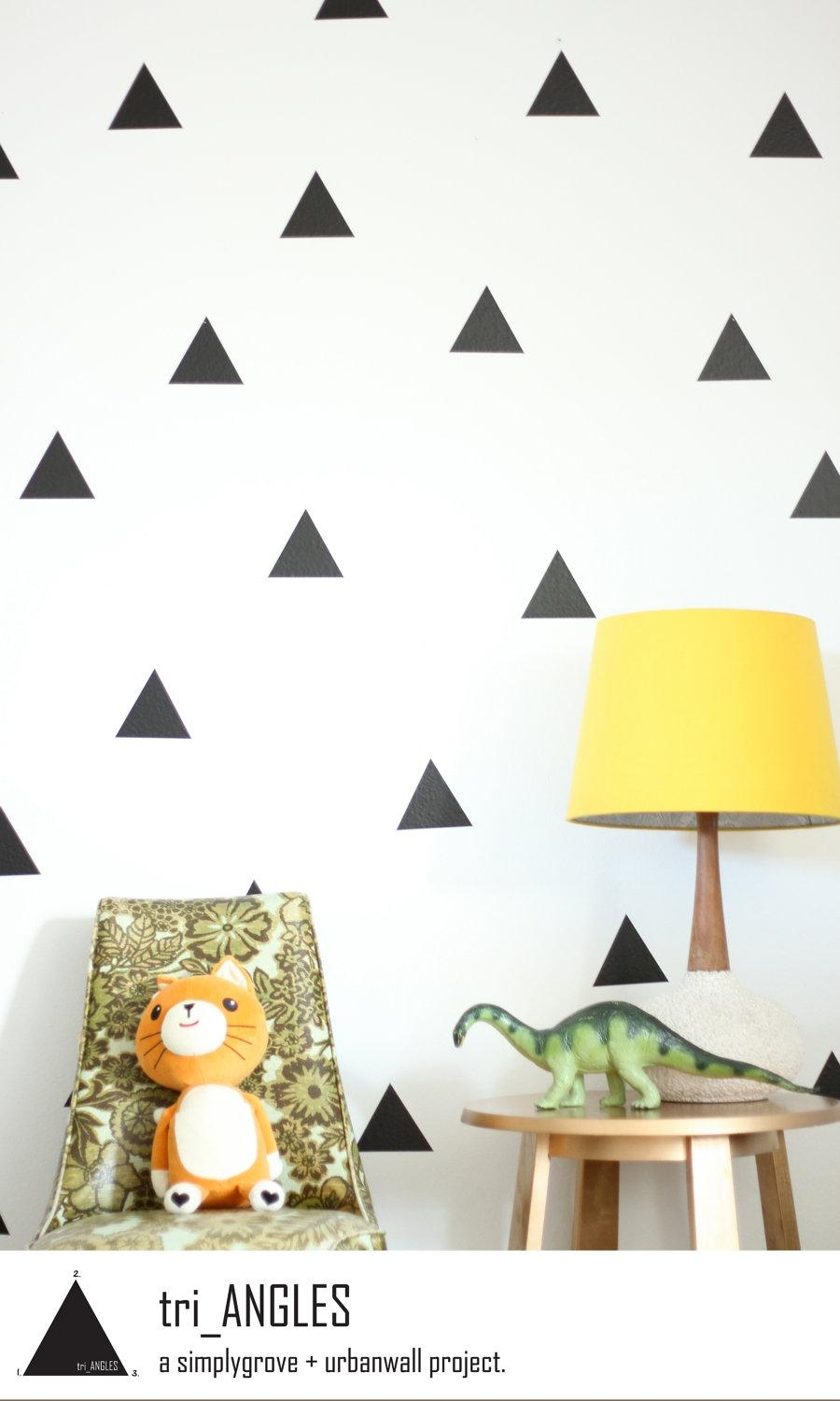 Vinyl Wall Sticker Decal Art Triangles Within Wall Cling Art (Image 18 of 20)