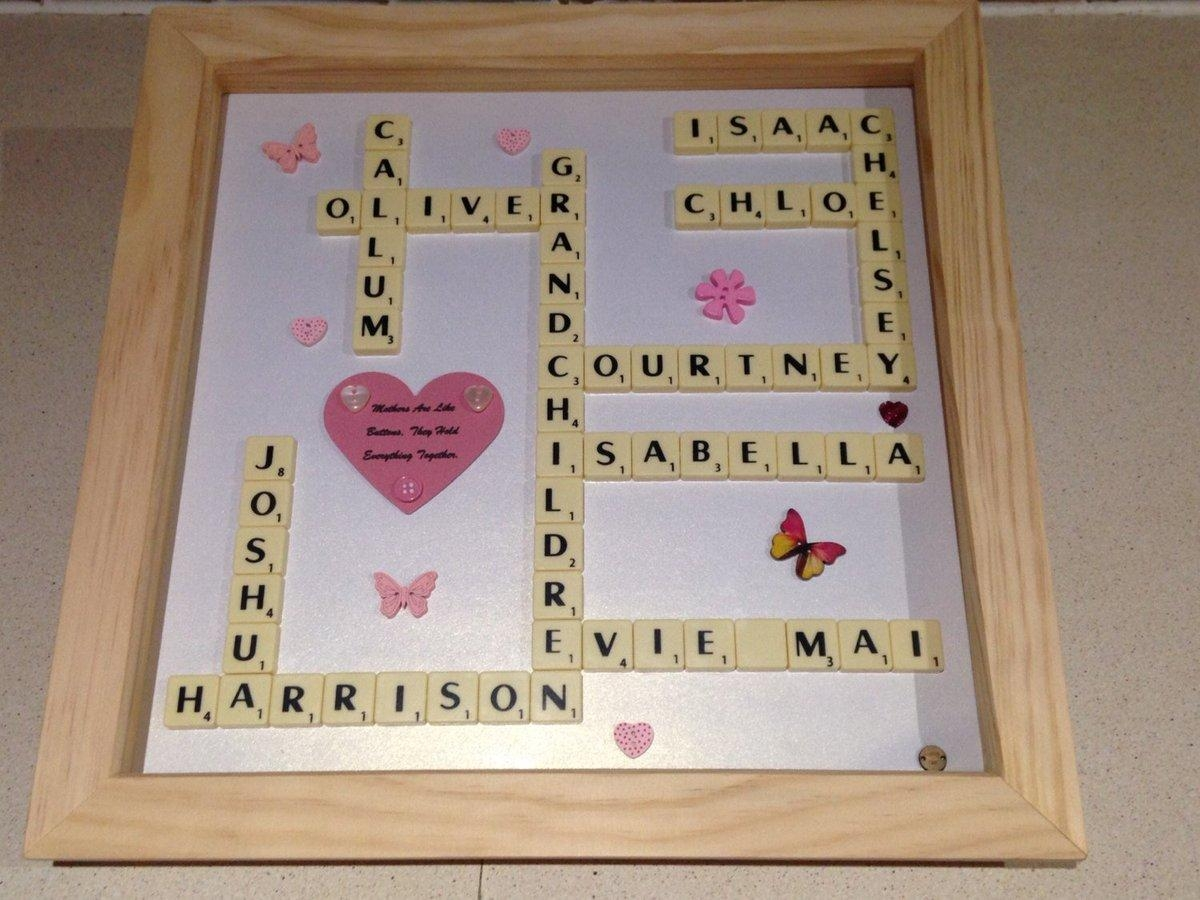 "Von Bingham On Twitter: ""scrabble Art Family Names Frame, Scrabble With Regard To Scrabble Names Wall Art (Image 17 of 20)"