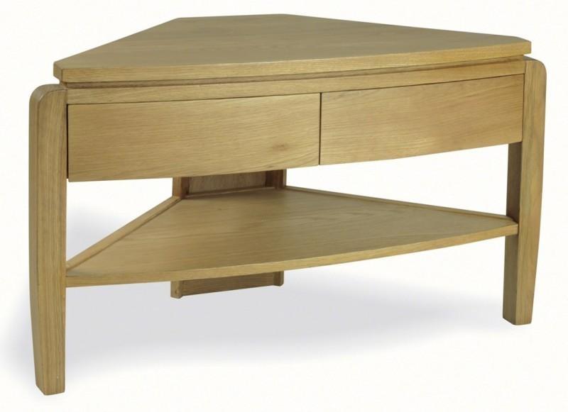 Waldorf Oak Corner Tv Unit | Retro Style Furniture With Latest Retro Corner Tv Stands (Image 20 of 20)