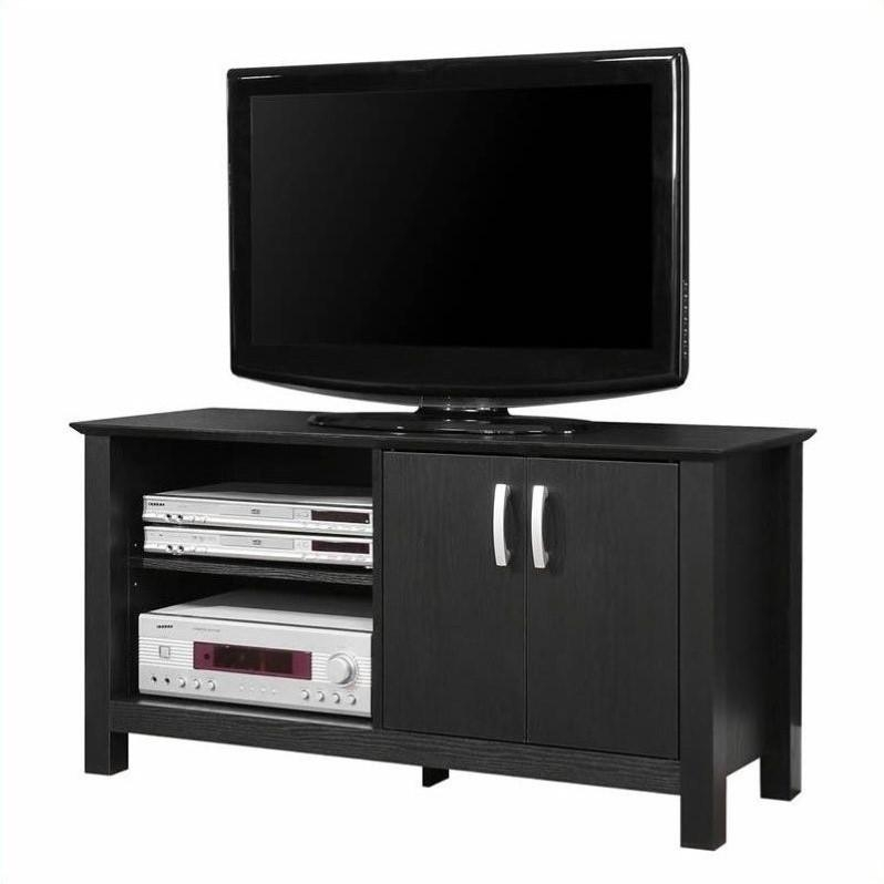 Walker Edison 44 Cordoba Tv Stand In Black Intended For Most Recent Cordoba Tv Stands (Image 18 of 20)