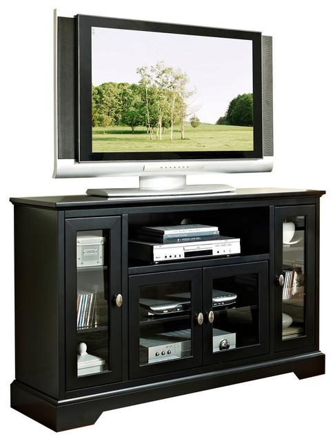 "Walker Edison 52"" Wood Highboy Tv Stand X Lb23C25W X Lb23C25W Inside Best And Newest Highboy Tv Stands (View 20 of 20)"