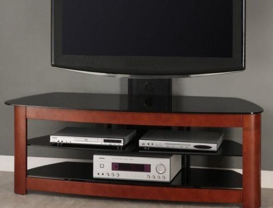 Walker Edison 60 Inch 4 In 1 Tv Stand With Removable Mount, Cherry Pertaining To Most Up To Date Corner Tv Stands For 60 Inch Flat Screens (Image 19 of 20)