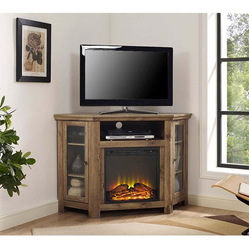 Walker Edison Corner Fireplace Tv Stand For 50 Inch Screens With 2018 50 Inch Fireplace Tv Stands (Image 19 of 20)