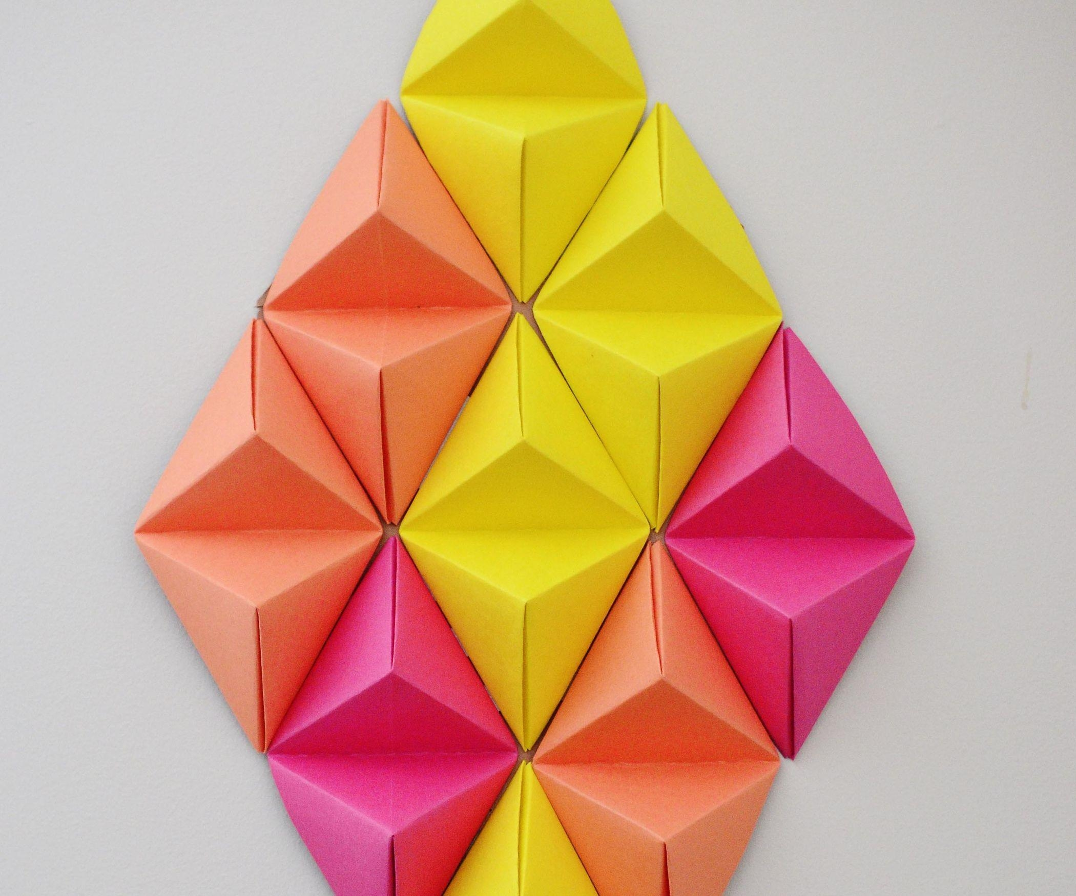 Wall Art 3D (With Pictures) With Diy Origami Wall Art (Image 20 of 20)