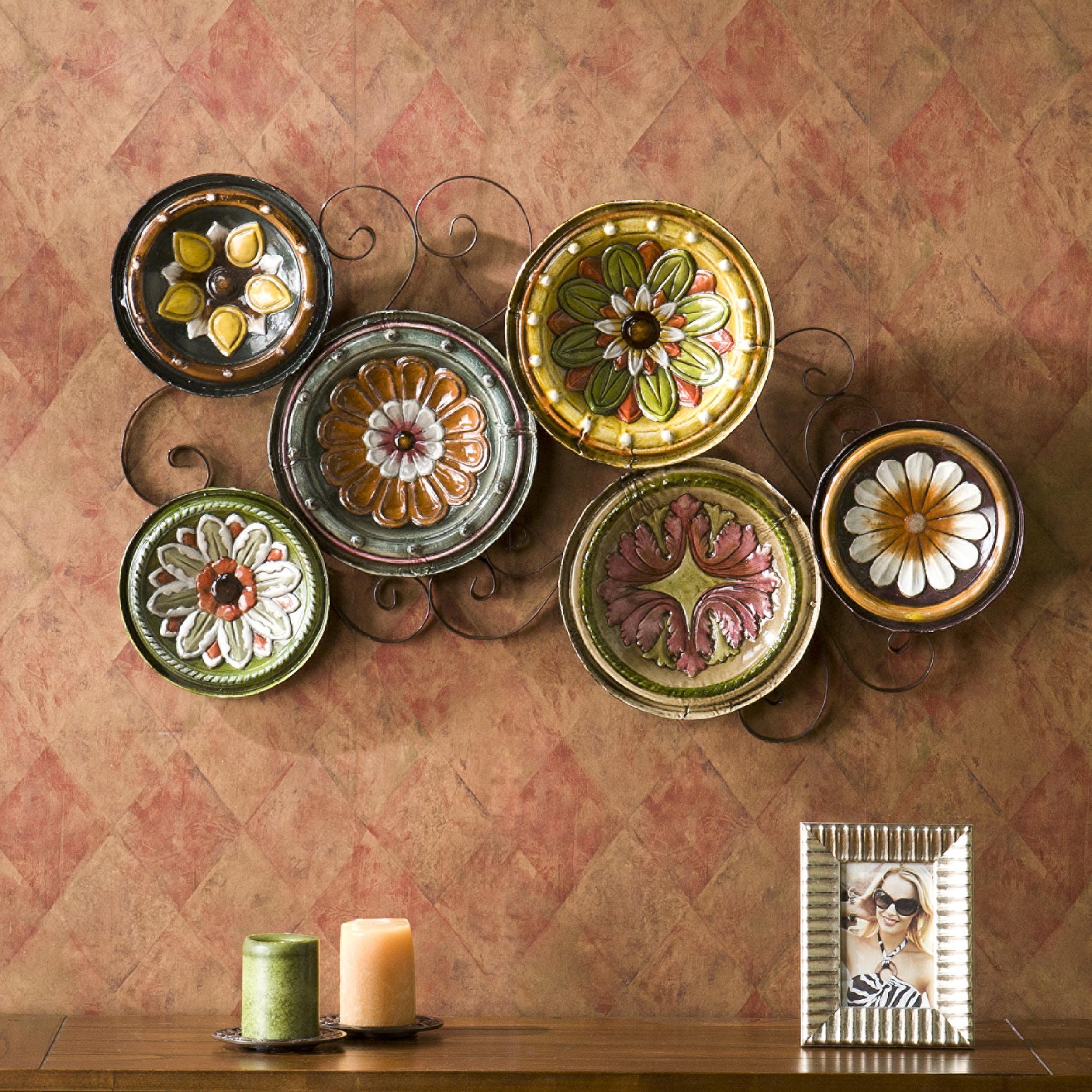 Wall Art Decor: Unique Decoration Plates Wall Art Full Frame Good Regarding Italian Glass Wall Art (Image 19 of 20)