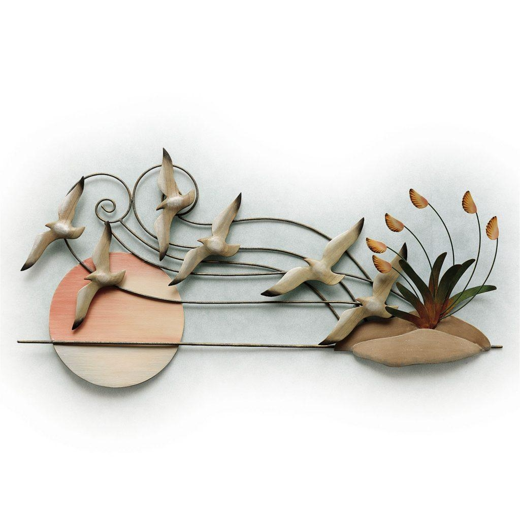 Wall Art Design Ideas: Amazing Metal Seagull Wall Art Independent With Seagull Metal Wall Art (Image 15 of 20)