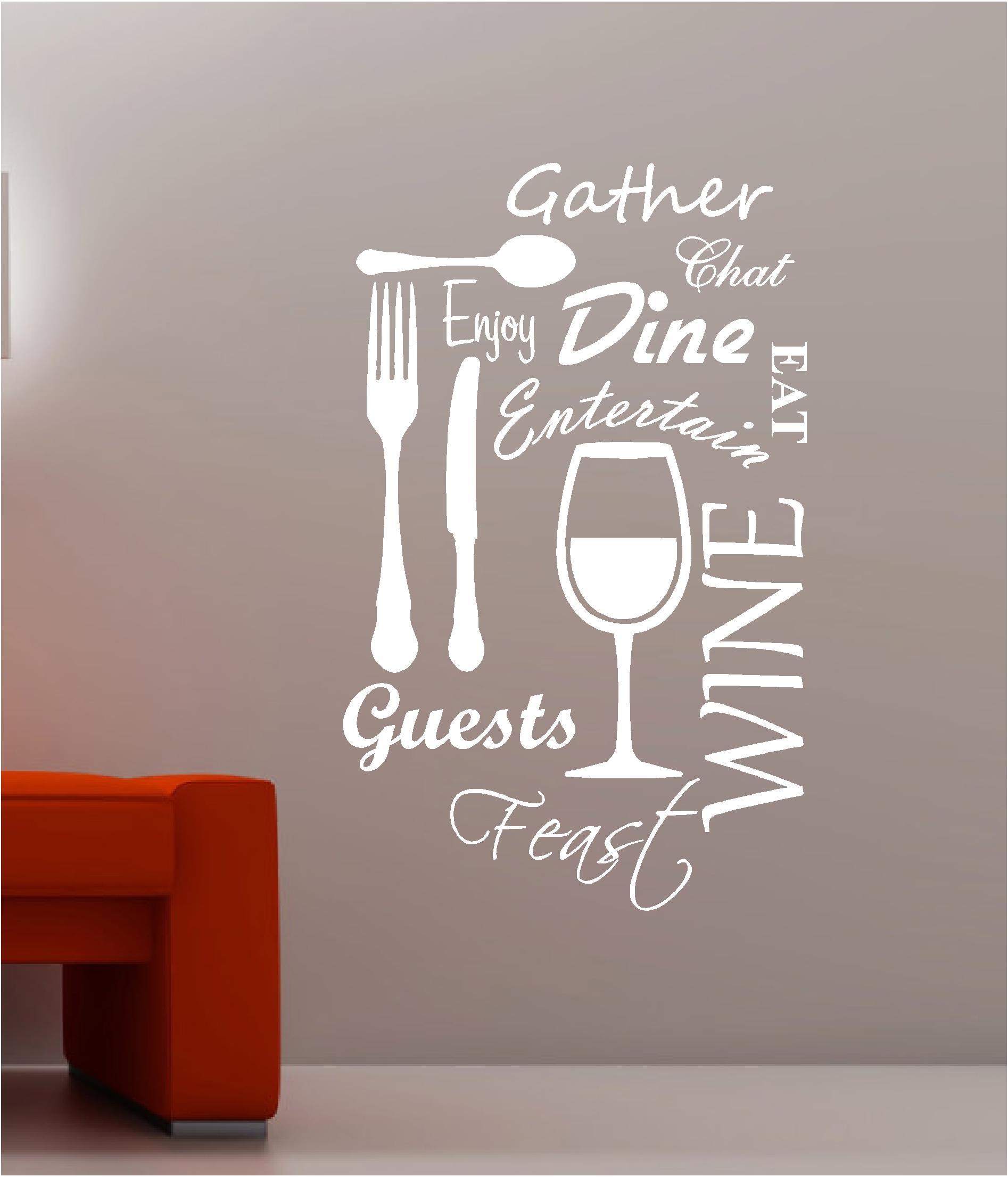 Wall Art Design Ideas: Feeding Sticker Wall Art Words Sayings For Oak Tree Vinyl Wall Art (View 8 of 20)