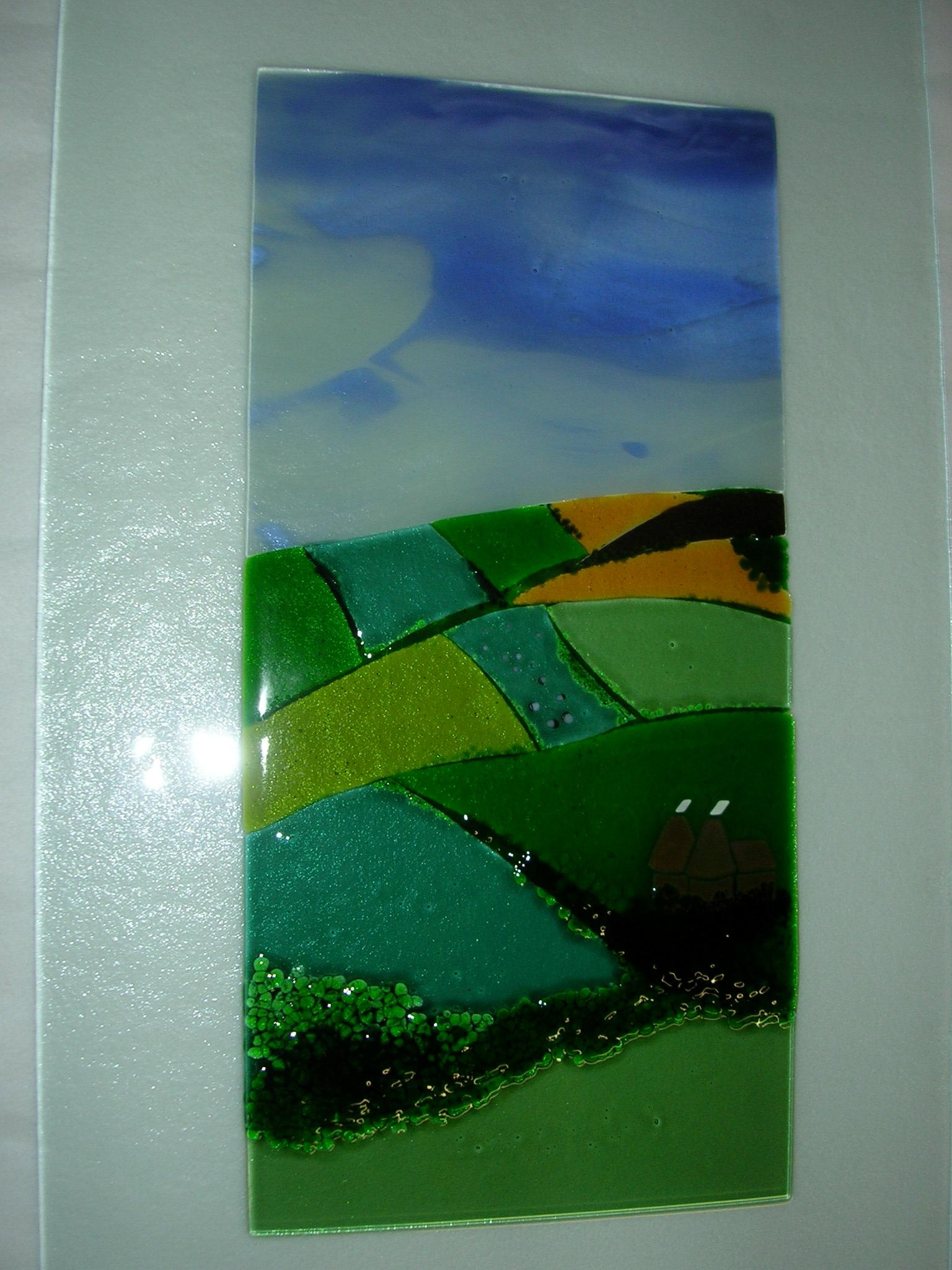 Wall Art Design Ideas: Similiar Coloured Fusion Glass Wall Art Inside Abstract Fused Glass Wall Art (View 3 of 20)