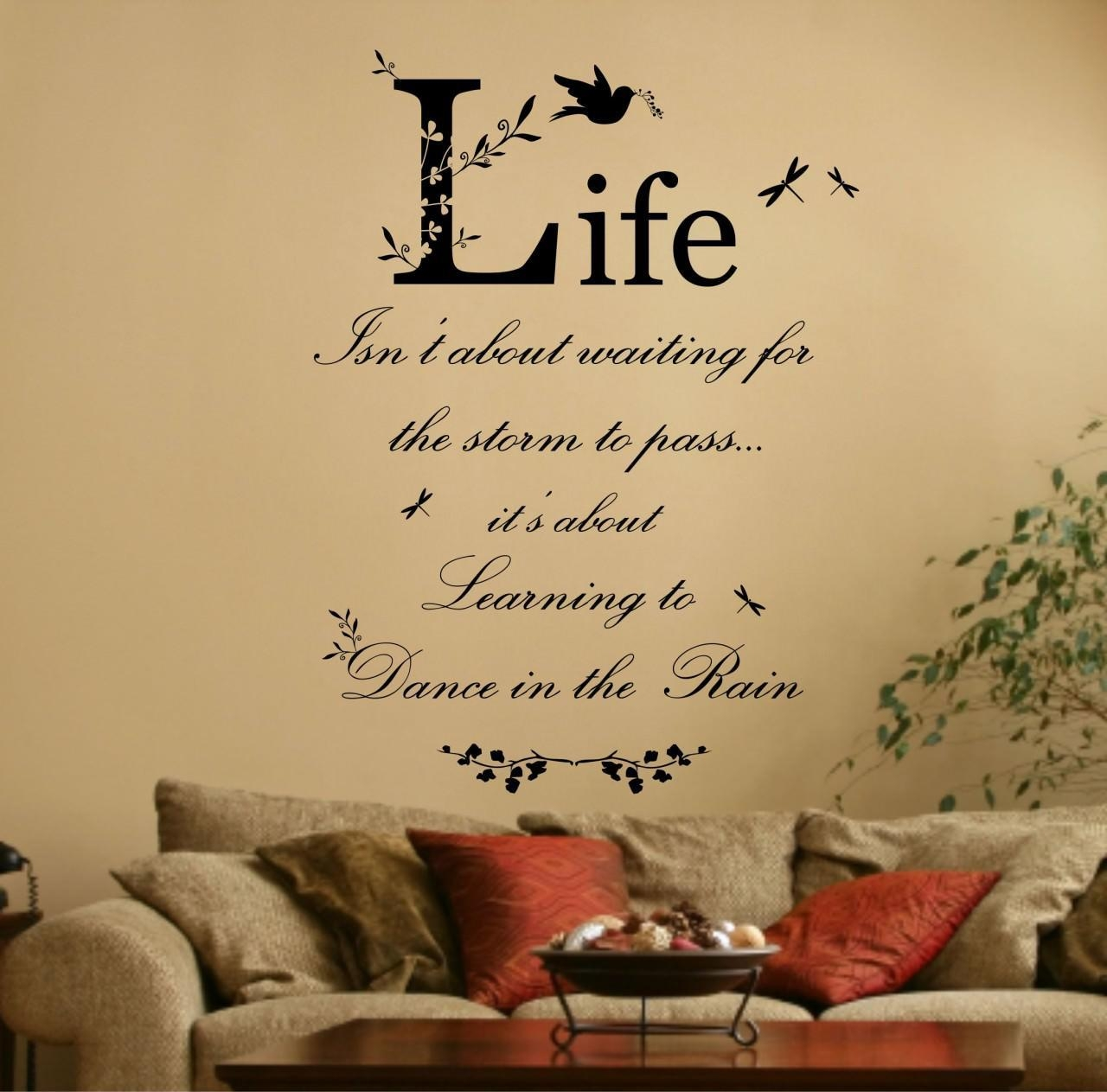 Wall Art Design Ideas: Simple Decals Wall Art With Sayings For Family Sayings Wall Art (Image 12 of 20)